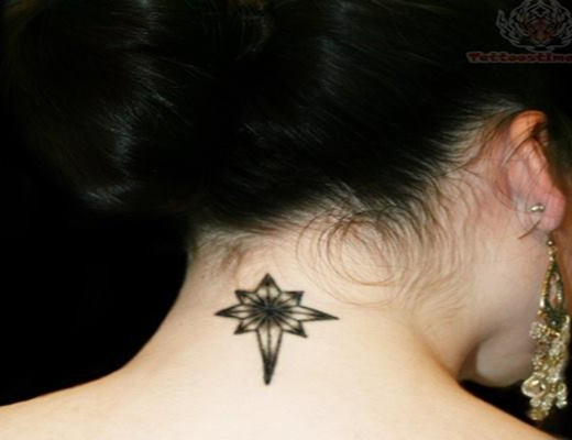 35 Most Attractive Ideas about Back Neck Tattoos for Woman Feature Image