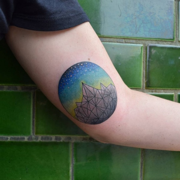 40 Cute Mountain Tattoo Designs 1