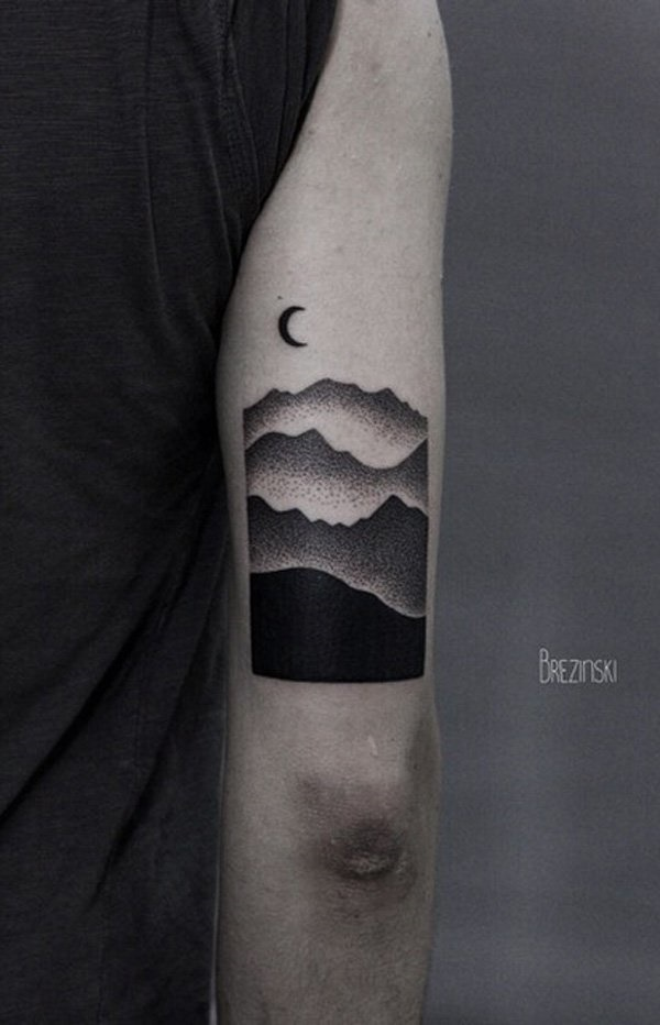 40 Cute Mountain Tattoo Designs 2