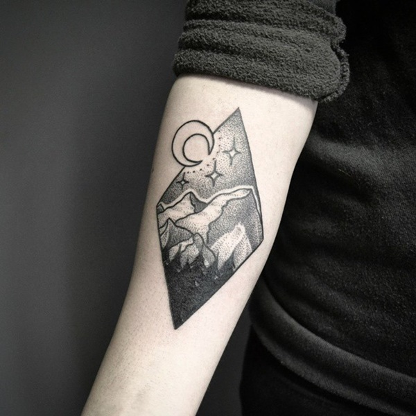 40 Cute Mountain Tattoo Designs 3