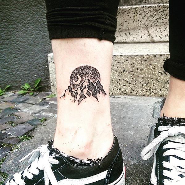 40 Cute Mountain Tattoo Designs 4