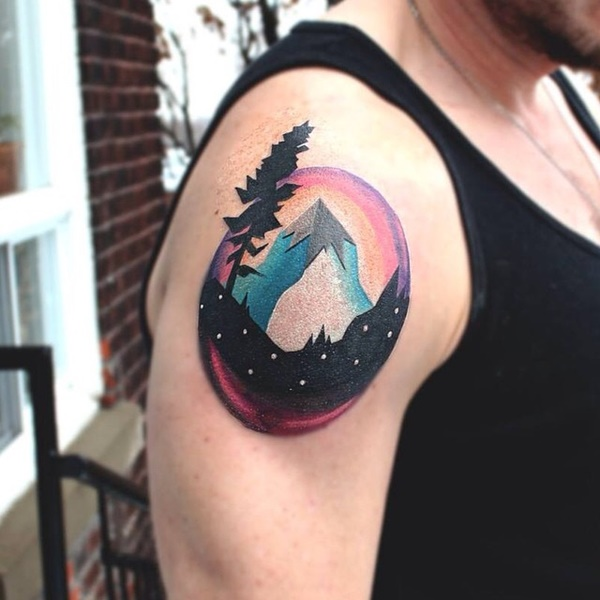 40 Cute Mountain Tattoo Designs 6