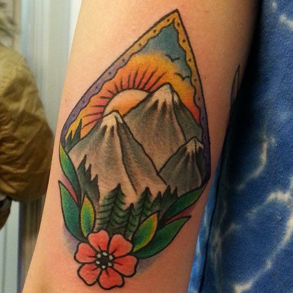 40 Cute Mountain Tattoo Designs 7