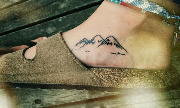 40 Cute Mountain Tattoo Designs Feature Image