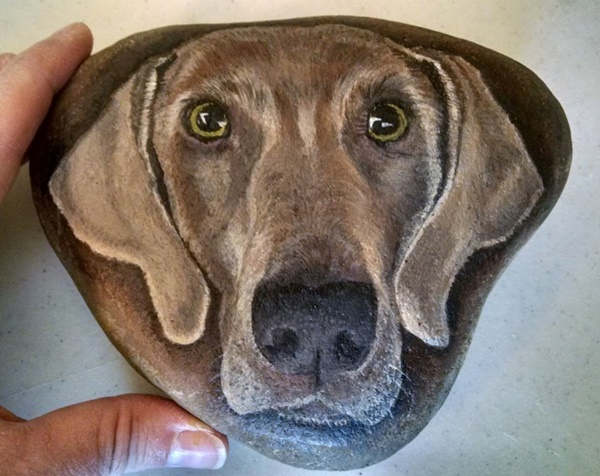 40 Cute Pictures of Animals Painted on Rocks 31