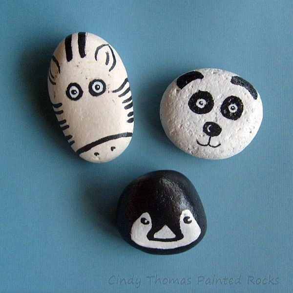 40 Cute Pictures of Animals Painted on Rocks 8