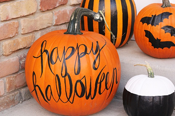 40 Cute and Easy Pumpkin Painting Ideas 10