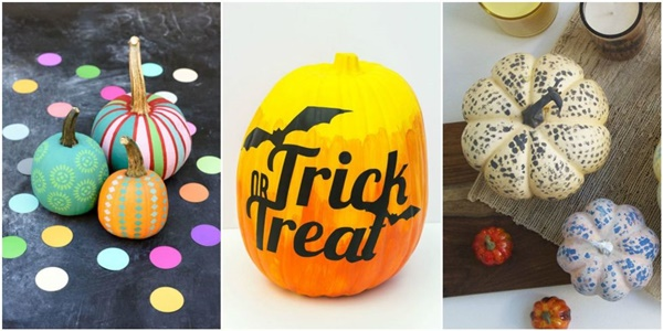 40 Cute and Easy Pumpkin Painting Ideas 12