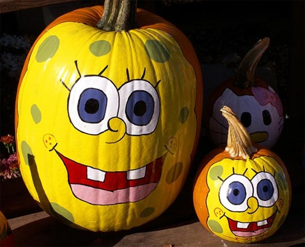 40 Cute and Easy Pumpkin Painting Ideas 18