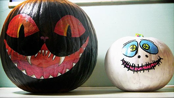 40 Cute and Easy Pumpkin Painting Ideas 3