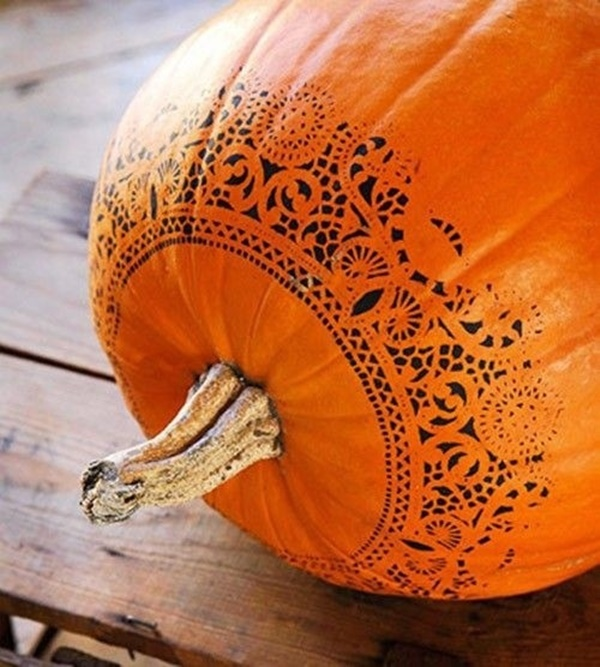 40 Cute and Easy Pumpkin Painting Ideas 31