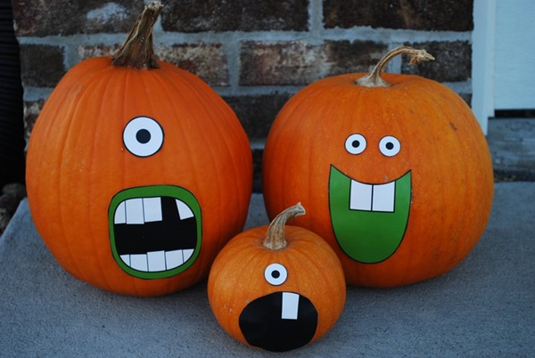 40 cute and easy pumpkin painting ideas hobby lesson Easy pumpkin painting patterns