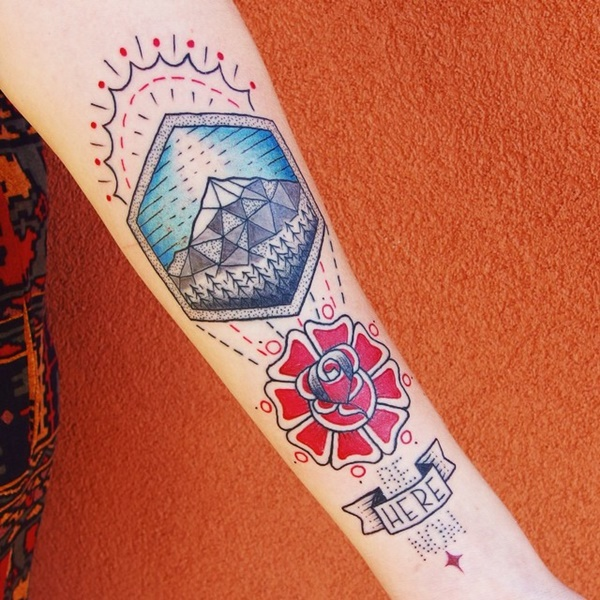 40 Cute Mountain Tattoo Designs 10
