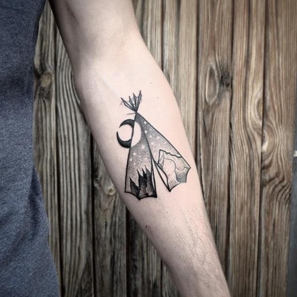 40 Cute Mountain Tattoo Designs 11
