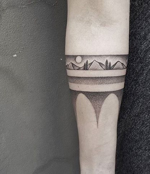 40 Cute Mountain Tattoo Designs 12