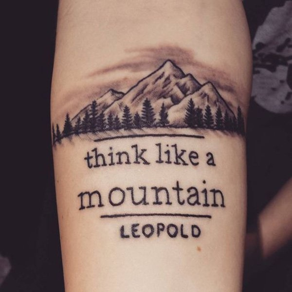 40 Cute Mountain Tattoo Designs 13