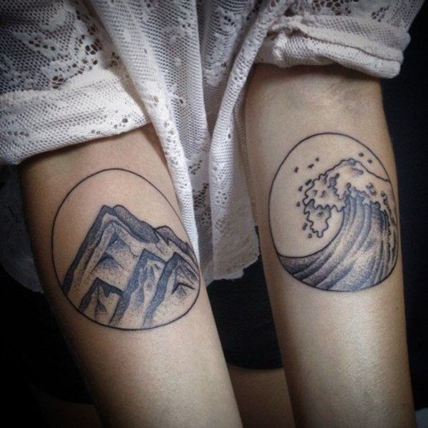 40 Cute Mountain Tattoo Designs 14