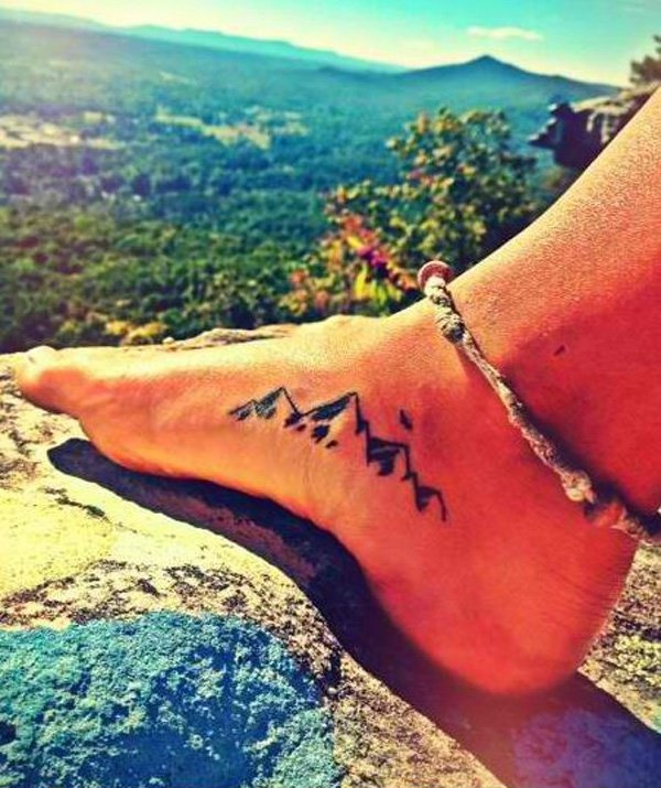 40 Cute Mountain Tattoo Designs 15