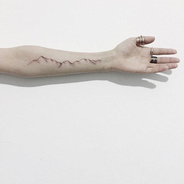 40 Cute Mountain Tattoo Designs 17