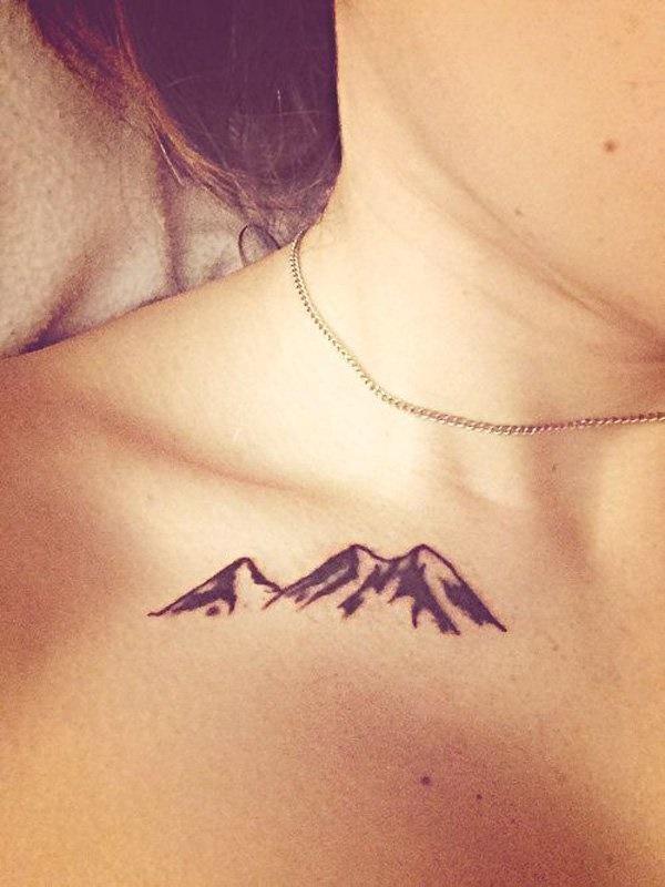 40 Cute Mountain Tattoo Designs 18