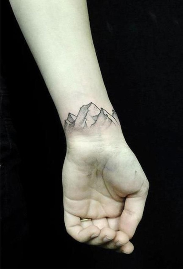 40 Cute Mountain Tattoo Designs 21