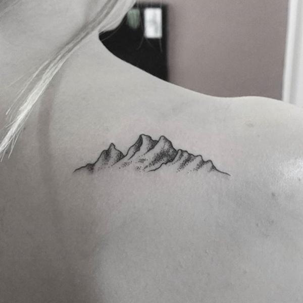 40 Cute Mountain Tattoo Designs 22