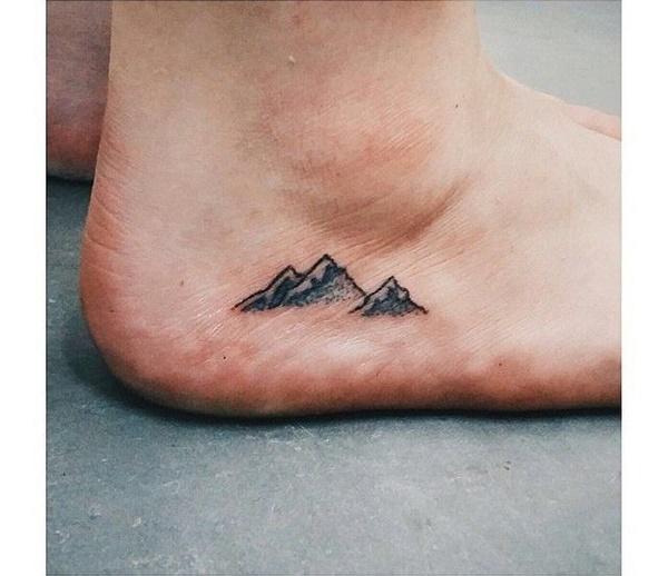 40 Cute Mountain Tattoo Designs 24