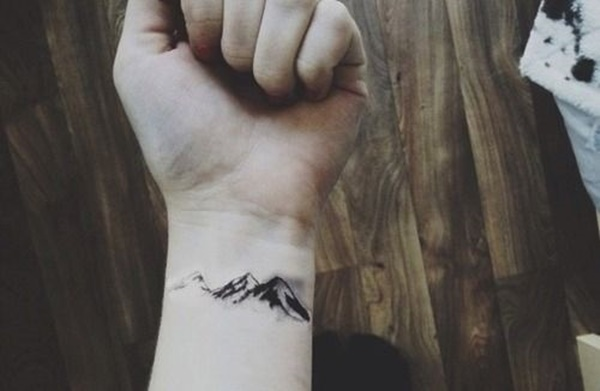 40 Cute Mountain Tattoo Designs 25