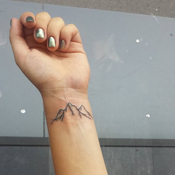 40 Cute Mountain Tattoo Designs 26