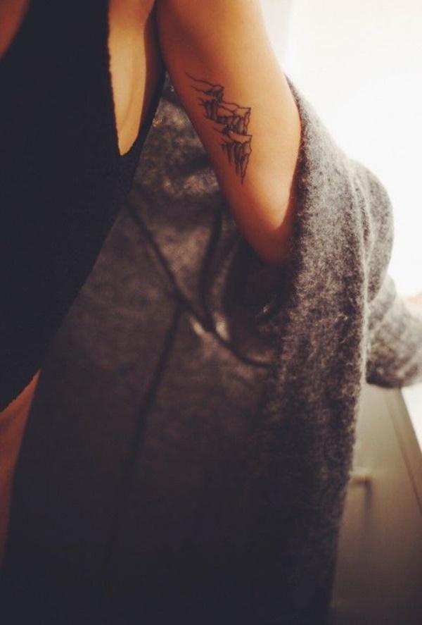 40 Cute Mountain Tattoo Designs 27