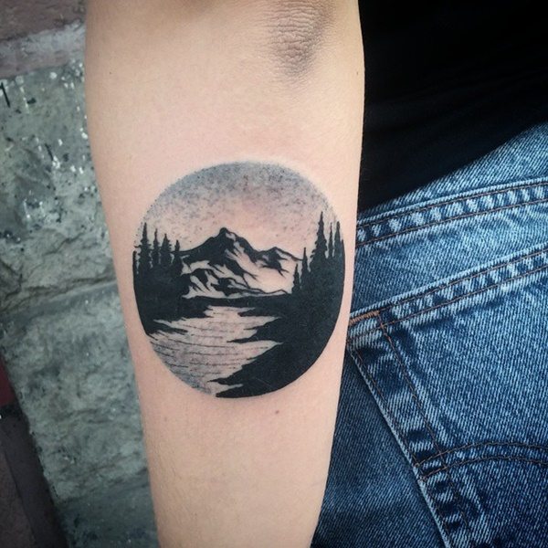 40 Cute Mountain Tattoo Designs 34