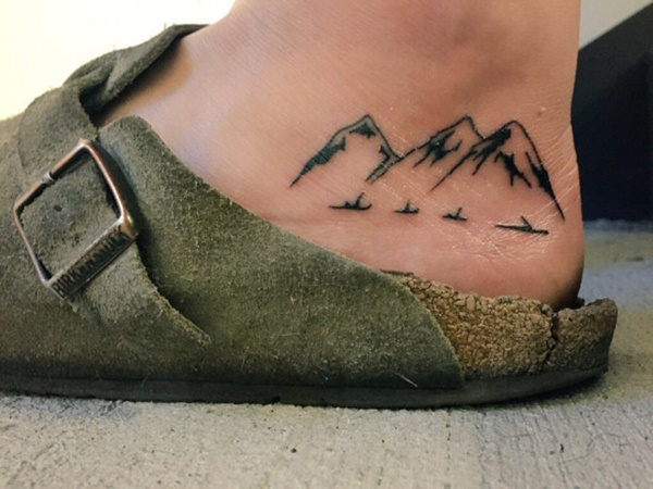 40 Cute Mountain Tattoo Designs 37
