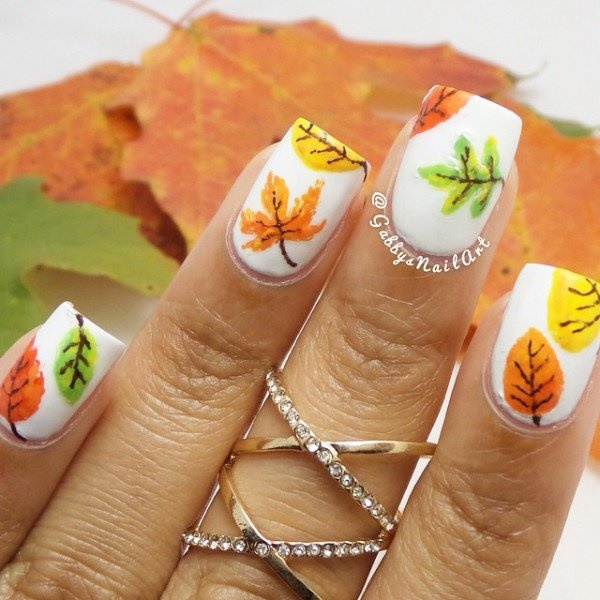 40 Easy and Attractive Fall Nail Art Ideas 10