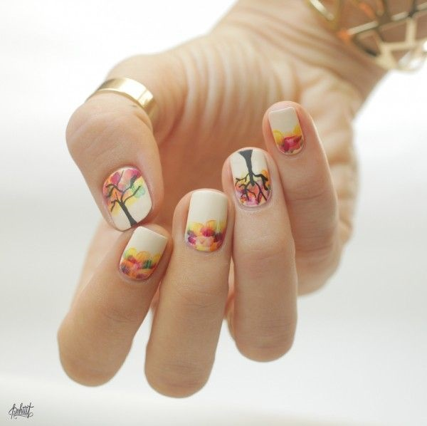 40 Easy and Attractive Fall Nail Art Ideas 17