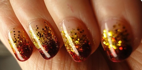 40 Easy and Attractive Fall Nail Art Ideas 20