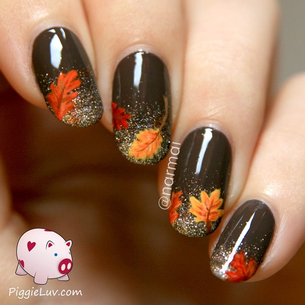 40 Easy and Attractive Fall Nail Art Ideas 21