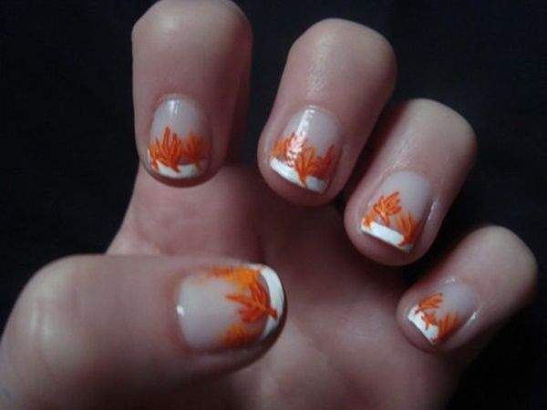 40 Easy and Attractive Fall Nail Art Ideas 22
