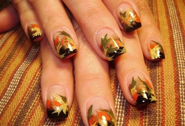 40 Easy and Attractive Fall Nail Art Ideas 23