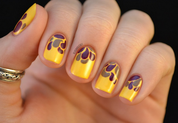 40 Easy and Attractive Fall Nail Art Ideas 24