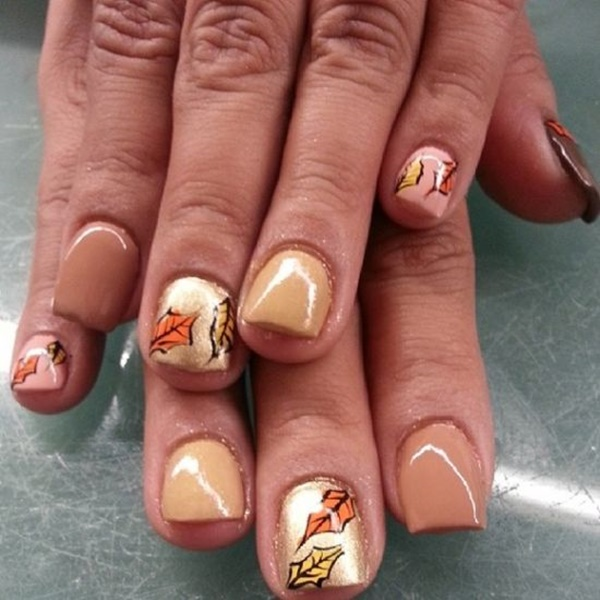 40 Easy and Attractive Fall Nail Art Ideas 25