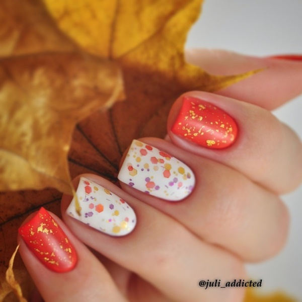 40 Easy and Attractive Fall Nail Art Ideas 28
