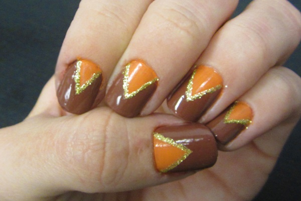 40 Easy and Attractive Fall Nail Art Ideas 29