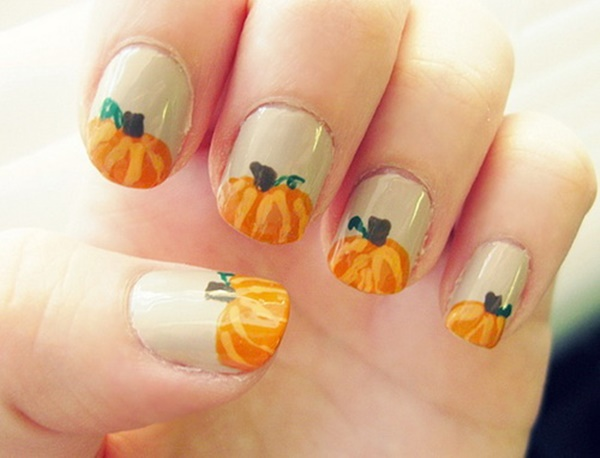 40 Easy and Attractive Fall Nail Art Ideas 31