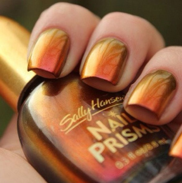 40 Easy and Attractive Fall Nail Art Ideas 33