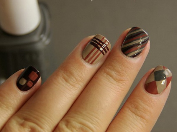 40 Easy and Attractive Fall Nail Art Ideas 34