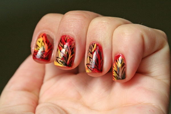 40 Easy and Attractive Fall Nail Art Ideas 36