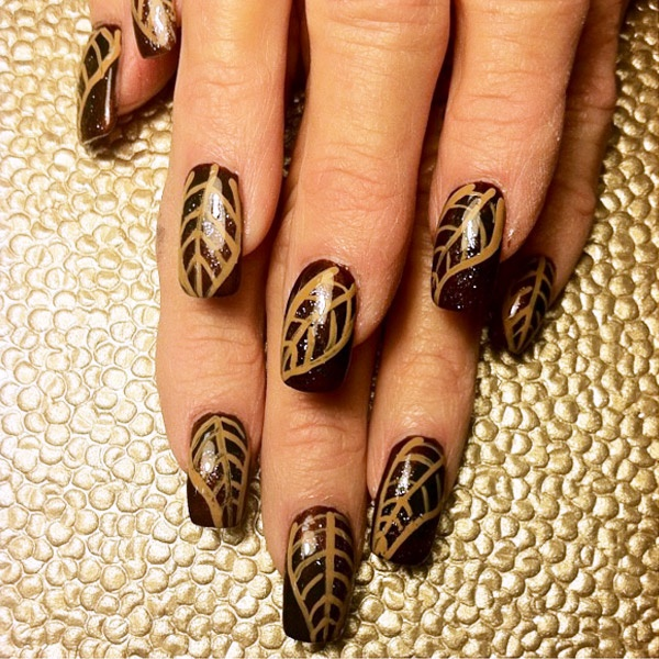 40 Easy and Attractive Fall Nail Art Ideas 38