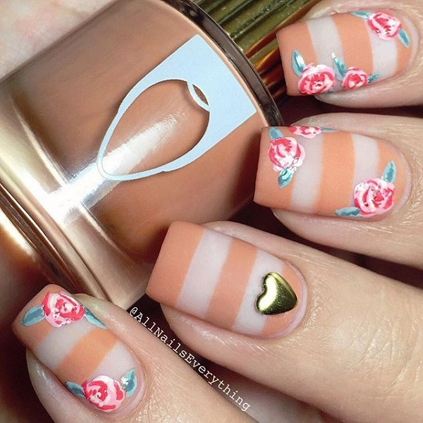 40 Easy and Attractive Fall Nail Art Ideas 4