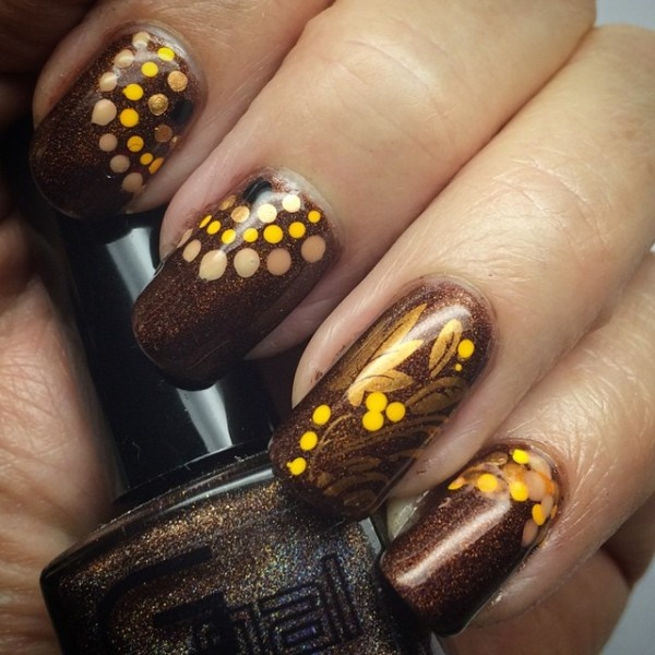 40 Easy and Attractive Fall Nail Art Ideas 40