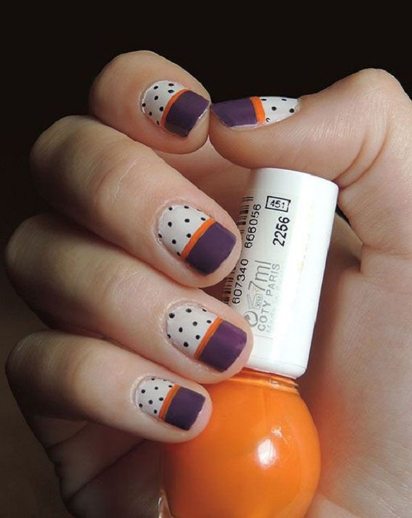 40 Easy and Attractive Fall Nail Art Ideas 6